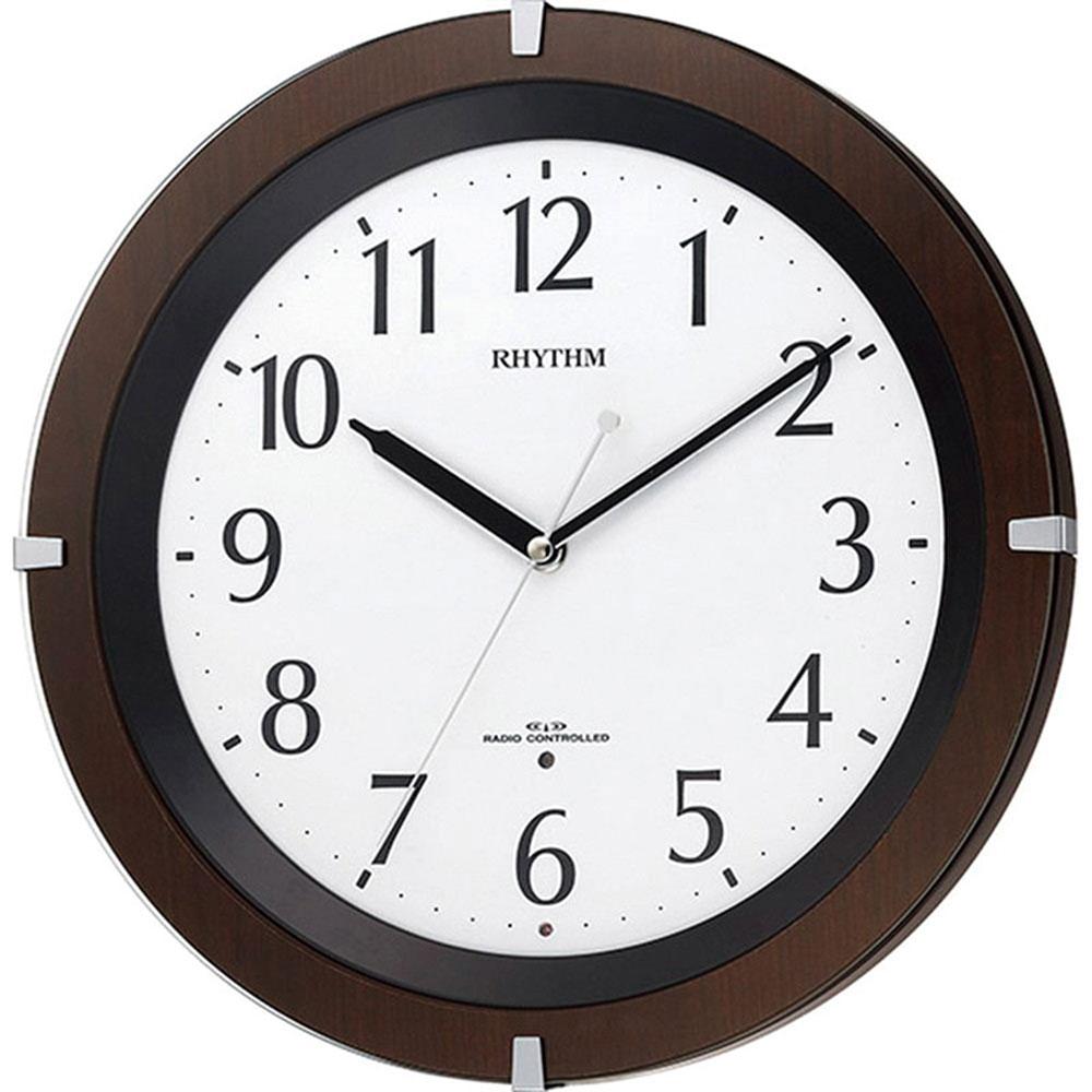 名入れ対応可 電波時計 掛け時計 | リズム時計 リバライトF460SR | 電波掛け時計 8MY460SR06 | 掛け時計 | お祝い 竣工 設立 新生活 記念品 プレゼント