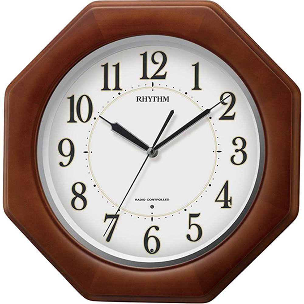 リズム時計 電波_掛け時計 シチズン リバライトF490SR 新築祝い 竣工記念 開店祝い 開業祝い プレゼント