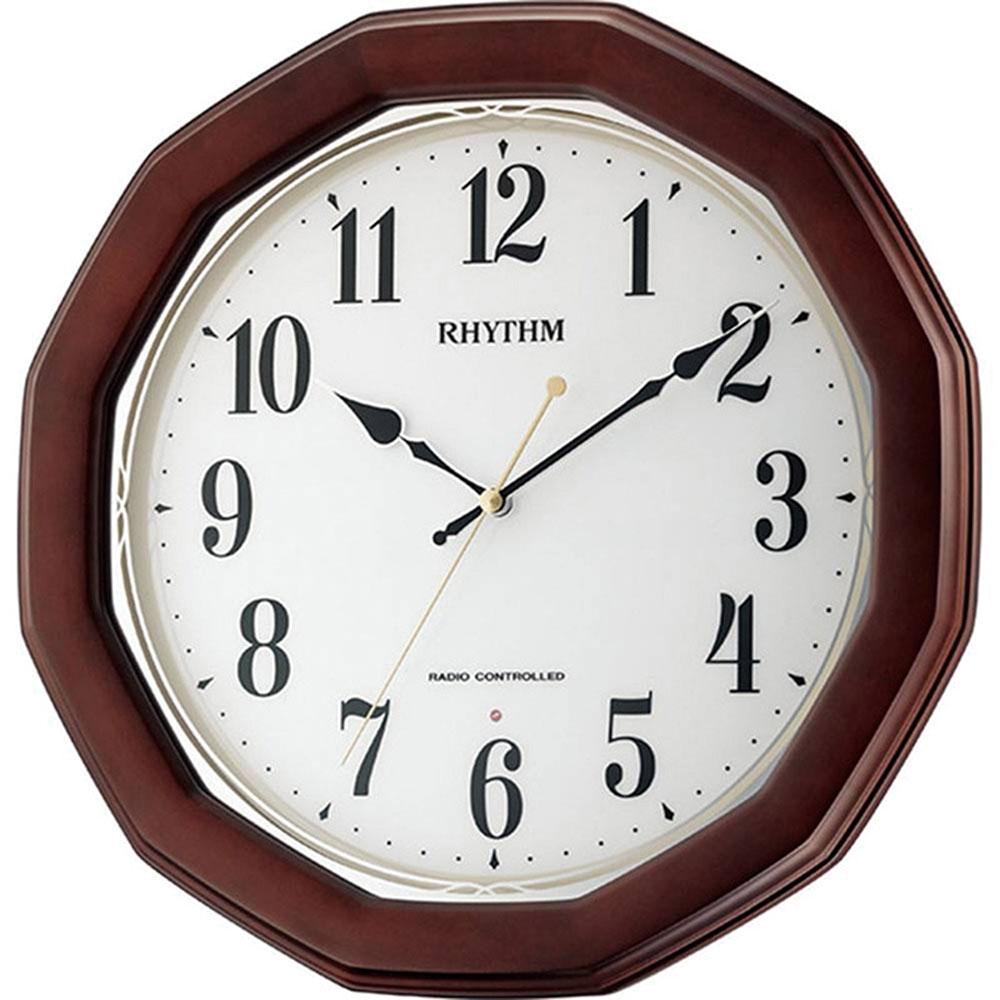 リズム時計 電波_掛け時計 シチズン フィットウェーブハンナ 新築祝い 竣工記念 開店祝い 開業祝い プレゼント