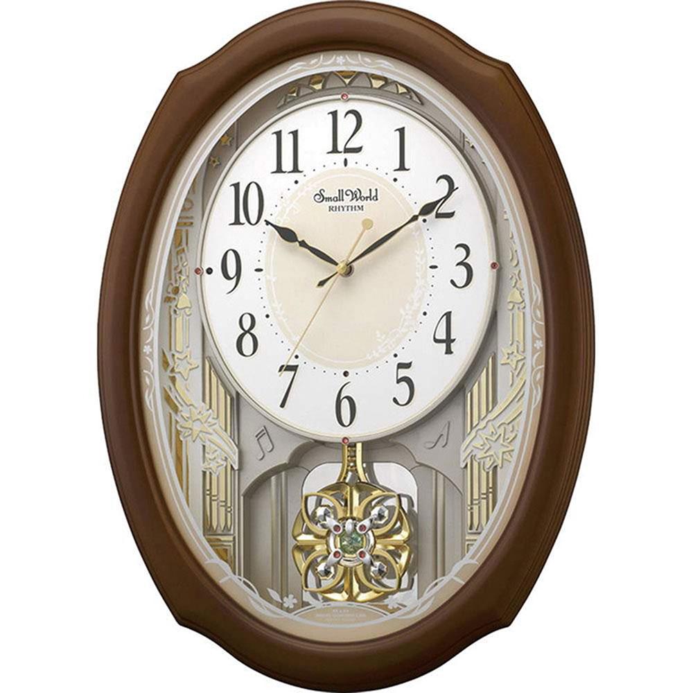 名入れ対応可 電波時計 掛け時計 | リズム時計 スモールワールドセレブレ | 電波掛け時計 4MN541RH06 | 掛け時計 | お祝い 竣工 設立 新生活 記念品 プレゼント