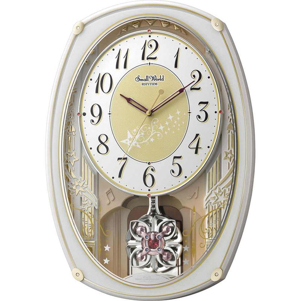 リズム時計 電波_掛け時計 シチズン スモールワールドステラ 新築祝い 竣工記念 開店祝い 開業祝い プレゼント