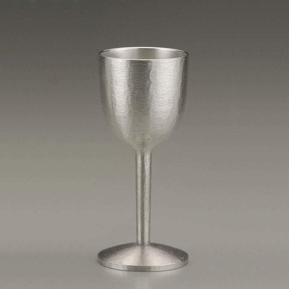 大阪錫器 ワインタンブラー おしゃれ SV180201 /ワインカップ(ワイングラス) シルキー 錫器 日本製 大 SV180201父の日 お誕生日 お父さん 昭和 居酒屋気分