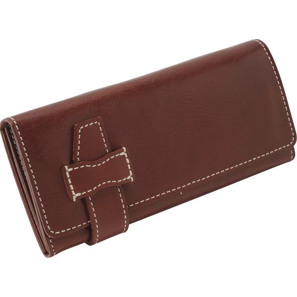 【送料無料】 ヌメ革 長財布 チョコ OJ-2504 【ギフト対応不可】