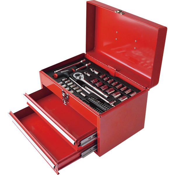 工具セット(スチールボックス付)  H-580 【ギフト対応不可】