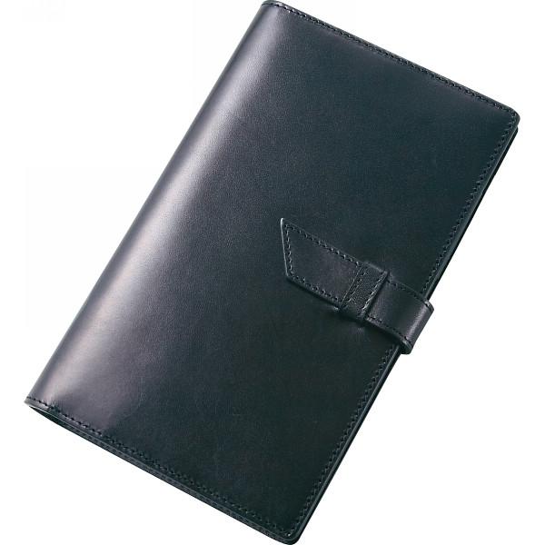 栃木レザー 手帳カバー ブラック 630001-10 【ギフト対応不可】