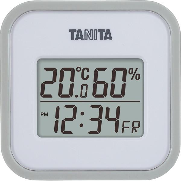メーカー直送 割引も実施中 タニタ デジタル温湿度計 グレー TT558GY