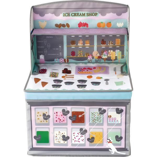 ホッペル キッズ収納ボックス アイスクリームショップ 売り込み 希望者のみラッピング無料 ギフト対応不可 KNB88051