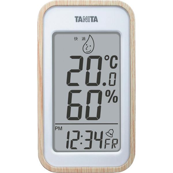 あす楽対象商品 タニタ 新品■送料無料■ デジタル温湿度計 信託 ギフト対応不可 ナチュラル TT-572-NA