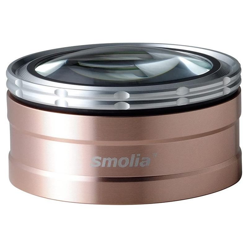 ルーペ LED 充電式 卓上ルーペ 送料無料 LED付 倍率調整可 ペーパーウエイト 賜物 3R-SMOLIA-TZC ゴールド スモリア ギフト対応不可