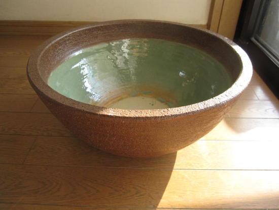 窯肌ボール型水鉢 小  睡蓮鉢   水鉢