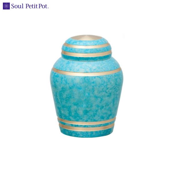 ソウル プチポット ミニ骨壷は、ご遺骨や形見の品を、大切に納めることのできる器です。ミニ骨壷 シンプルモダンは、真鍮製のソウルプチポット。上質で美しいミニ骨壷です。 ミニ骨壷 Soul PetitPot(ソウルプチポット) シンプルモダン(スカイブルー)/金属製 | 手元供養 骨壺 納骨 葬式 葬儀