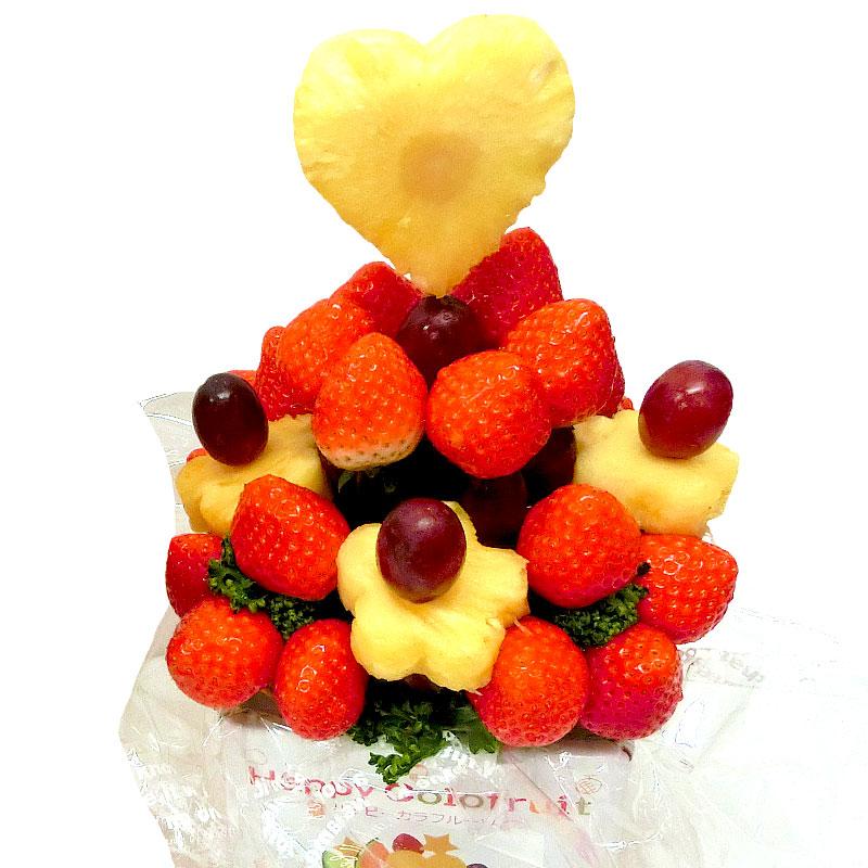 [ギフトパーク]果物 イチゴ 詰め合わせ【いちごブーケ 大】フルーツフラワーギフト カットフルーツ盛合せ サプライズプレゼント 結婚記念日 結婚内祝い 誕生日 いちごケーキインスタ映え 贈り物 スイーツ 入学卒業祝い フルーツケーキ フルーツブーケ