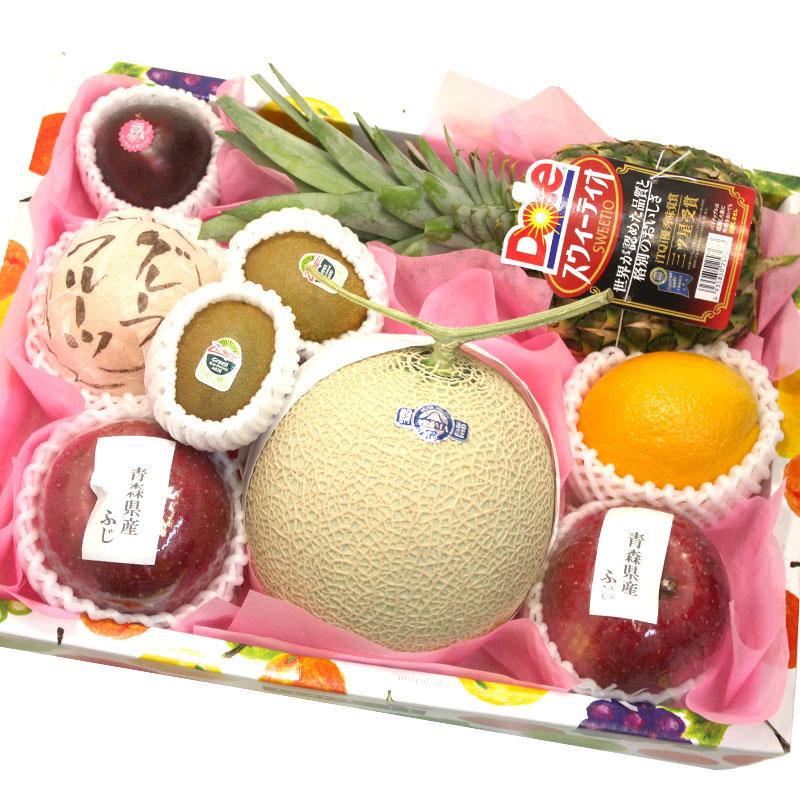 [ギフトパーク]果物 ギフト 旬の果物詰め合わせ【木】|フルーツセット メロン フルーツ 盛り合わせ 送料無料 お祝い 果物セット 誕生日プレゼント (贈り物 祖母 バースデー 女性 ギフト フルーツ ギフト 贈答)