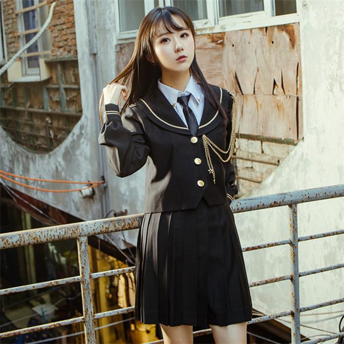 DreamSwing 冬服セーラー服 黒 女子高生 JK制服 大きいサイズ アウター ジャケット レディースファッション LJKJ02-1 れのPのおすすめ