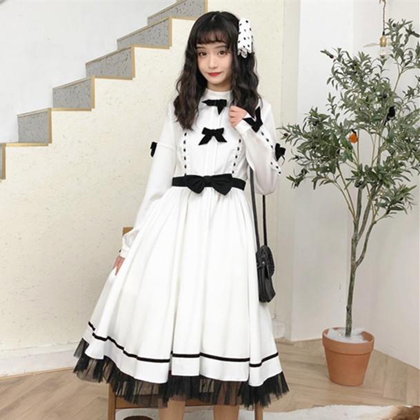 DreamSwing レディース シフォン リボン付きワンピース ホワイト DS437 春 乙女系 姫系 れのPのおすすめ