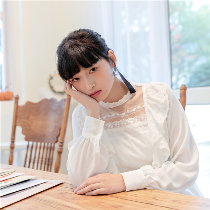 DreamSwing レディース シフォン レース フリル 透けワンピース ホワイト DS438 春夏 ガーリー 乙女系 姫系 れのPのおすすめ 送料無料