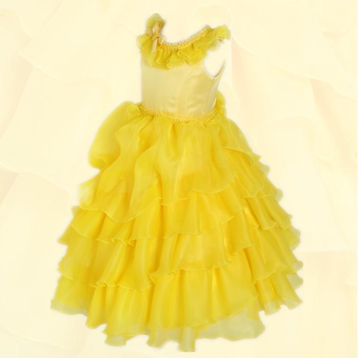 湘南DRESS ブランド:DressNotes キッズフォーマル ロング丈 子供ドレス アルドーレ2 YELLOW