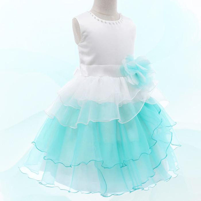 湘南DRESS ブランド:DressNotes キッズフォーマル ミドル丈 子供ドレス F52067 ライトグリーン