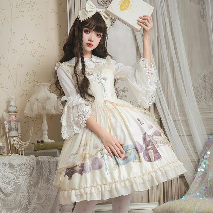 「FairyTailor」ロリータ ワンピース レディース ジャンパースカート 萌え萌え系 コスプレ ゴスロリ 衣装 可愛い 夏 まどかPのおすすめ YR-008