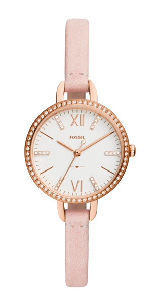 FOSSIL[フォッシル] es4402 Annette Three-Hand Blush nude Leather ladies watch アネット アナログ ヌードレザー 腕時計