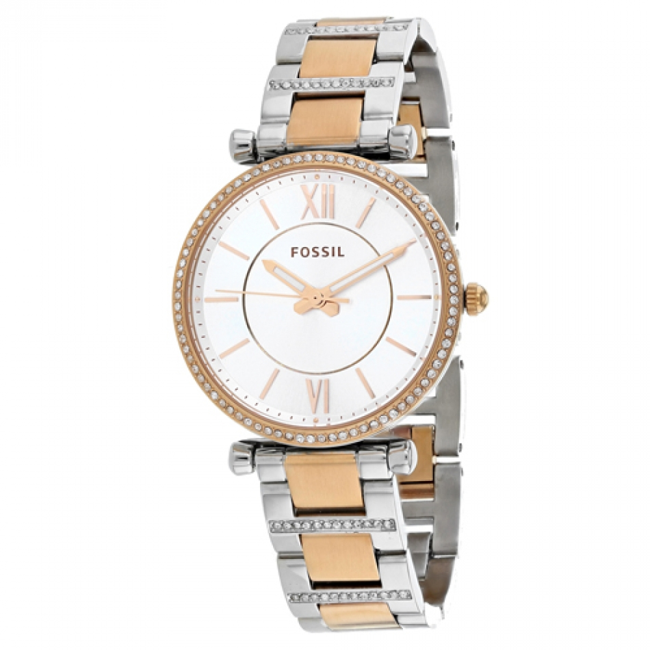 FOSSIL[フォッシル] es4342 CARLIE Two-Tone Stainless Stainless ローズゴールド/シルバー ステンレスアナログ レディース 腕時計
