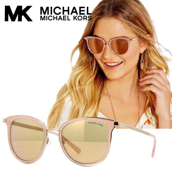 [non arrival in Japan] Michael Kors sunglasses Adrianna ad re hole pink Rose gold MICHAELKORS mk1010 1103r1 MK1010 1103R1 Oval round square