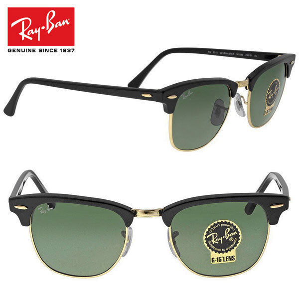 0c6a14683a Ray-Ban MODEL NO.rb3016-01 49mm RB3016 w0365 Clubmaster Club master  sunglasses Womens mens (Rayban)
