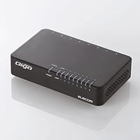 Logitec(ロジテック) EHC-G08PA-JB-K 1000BASE-T対応 スイッチングハブ(8ポート・ブラック・マグネット付)