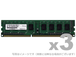 DOS/V用 DDR3-1066 UDIMM 2GBx3枚 ADS8500D-2G3 ADTEC【メモリー 増設メモリ メモリ増設 dos windows 2GB 3枚組 DDR3-1066】