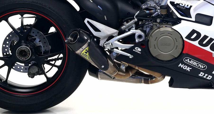 夏セール開催中 MAX80%OFF! Arrow Ducati ストリートファイターV4 2020 デュアルスリップオン Works フルチタン 71154PK, 【byTRICO【バイトリコ】デザイン 308d221e