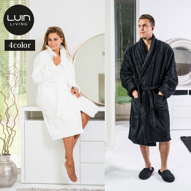 Luin Living/ルインリビング  バスローブ 男女兼用 S/M/Lサイズ 【全4色】