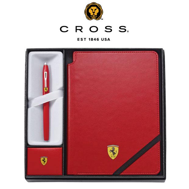 CROSS FOR SCUDERIA FERRARI/クロス フォー スクーデリア・フェラーリ クロス センチュリー ローラーボール&ジャーナルギフトセット 【レッド】