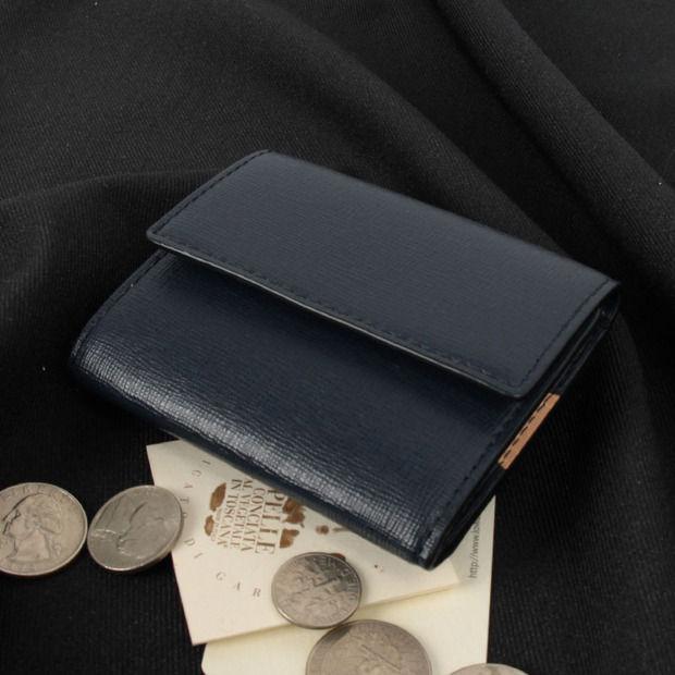 PID/ピー・アイ・ディー PAO1002 レザー 3つ折りミニウォレット/折財布【ブラック/ネイビー/レッド】