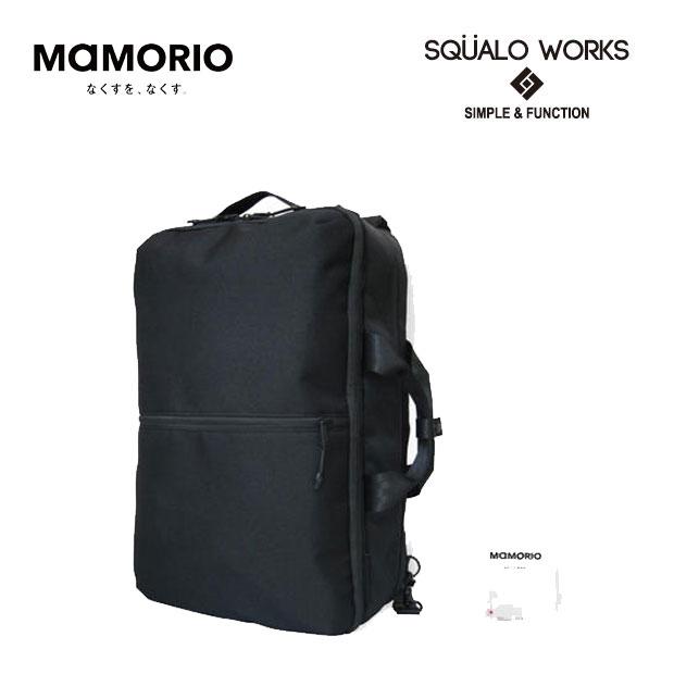 SQUALO WORKS/スクアーロ ワークス TRACKING3WAYバッグ/MAMORIO搭載 【ブラック】