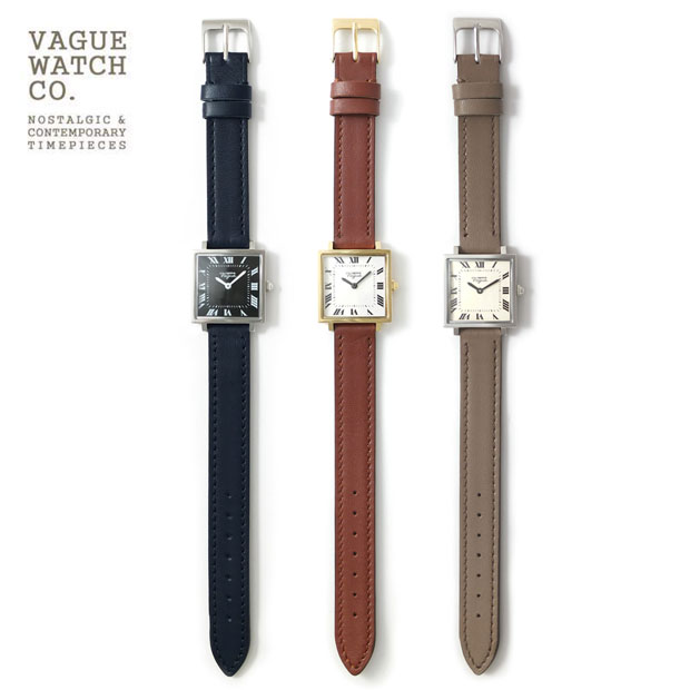 VAGUE WATCH CO./ヴァーグウォッチ スクエアレザーベルト 腕時計Carre (カレ)