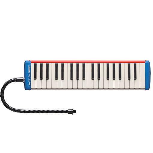 SUZUKI スズキ楽器メロディオンアルトM-37C plus(レッド&ブルー)