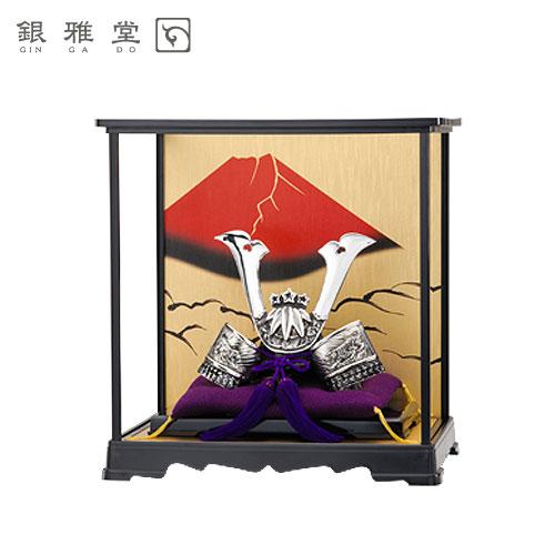 【送料無料】五月人形 源義経公 飾りケースセット 戦国武将 インテリア 送料無料