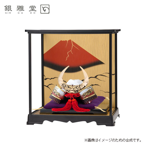 【送料無料】五月人形 武田信玄公 飾りケース付き 戦国武将 インテリア 送料無料