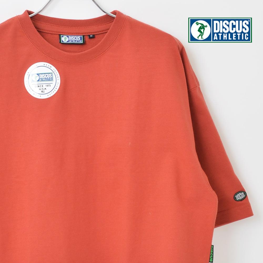 優しい肌触りの コットン素材 爆安プライス T-shirts DISCUS ATHLETIC ディスカス 天竺 ショート丈 ワイドTシャツ 2020モデル ディスカスアスレチック レディース Tシャツ メール便送料無料 カットソー