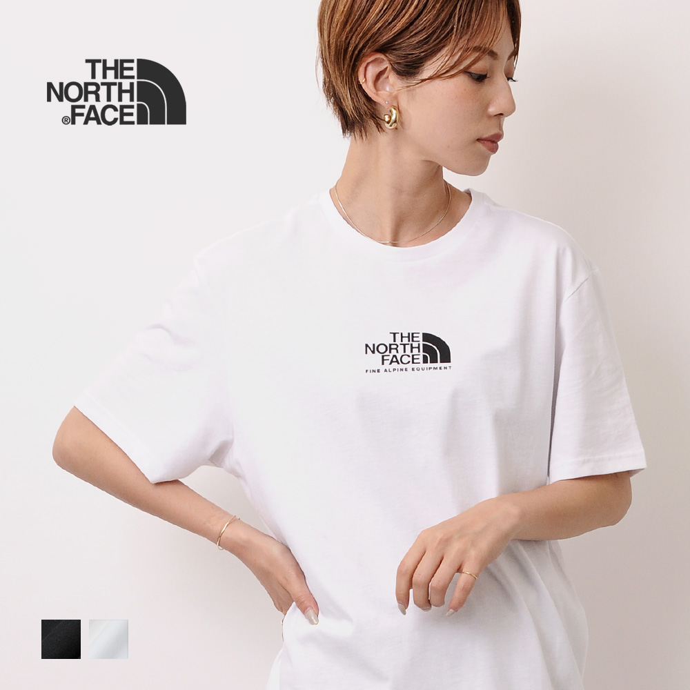 これ一枚ではもちろん 上にジャケットやシャツを羽織ってもブランドロゴが見えるのが ストアー THE NORTH FACE ザ 日本 ノース フェイス SS レディース Tシャツ カットソー TEE FINE 3 ALP メール便送料無料