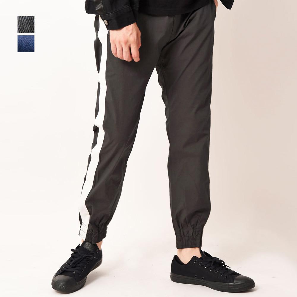 スポーティー+モードスタイルにおすすめのアイテム BULLISH ライン入りジョガーパンツ メンズ いよいよ人気ブランド ブリッシュ ジョガーパンツ 本日の目玉