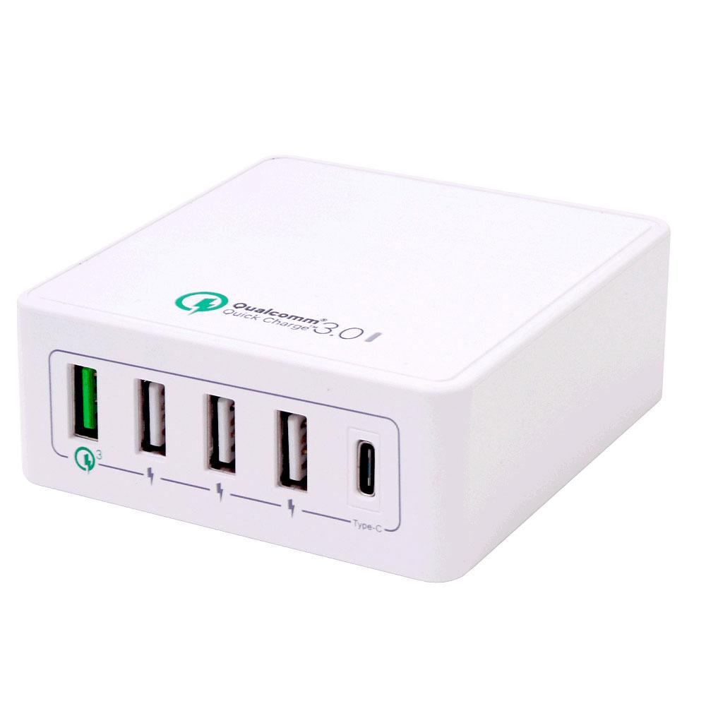 高出力で急速充電家庭用コンセントでUSB充電ができる TYPE-C 1ポート QC3.0ポート TYPE-A 3ポート 合計5ポート搭載 爆安 クイックチャージ3.0ポート搭載USB TYPE-C=USB3.1対応USB USBA ADAPTER 両対応宅配便送料無料 AC 市販 USBC スマホ充電器海外電圧対応