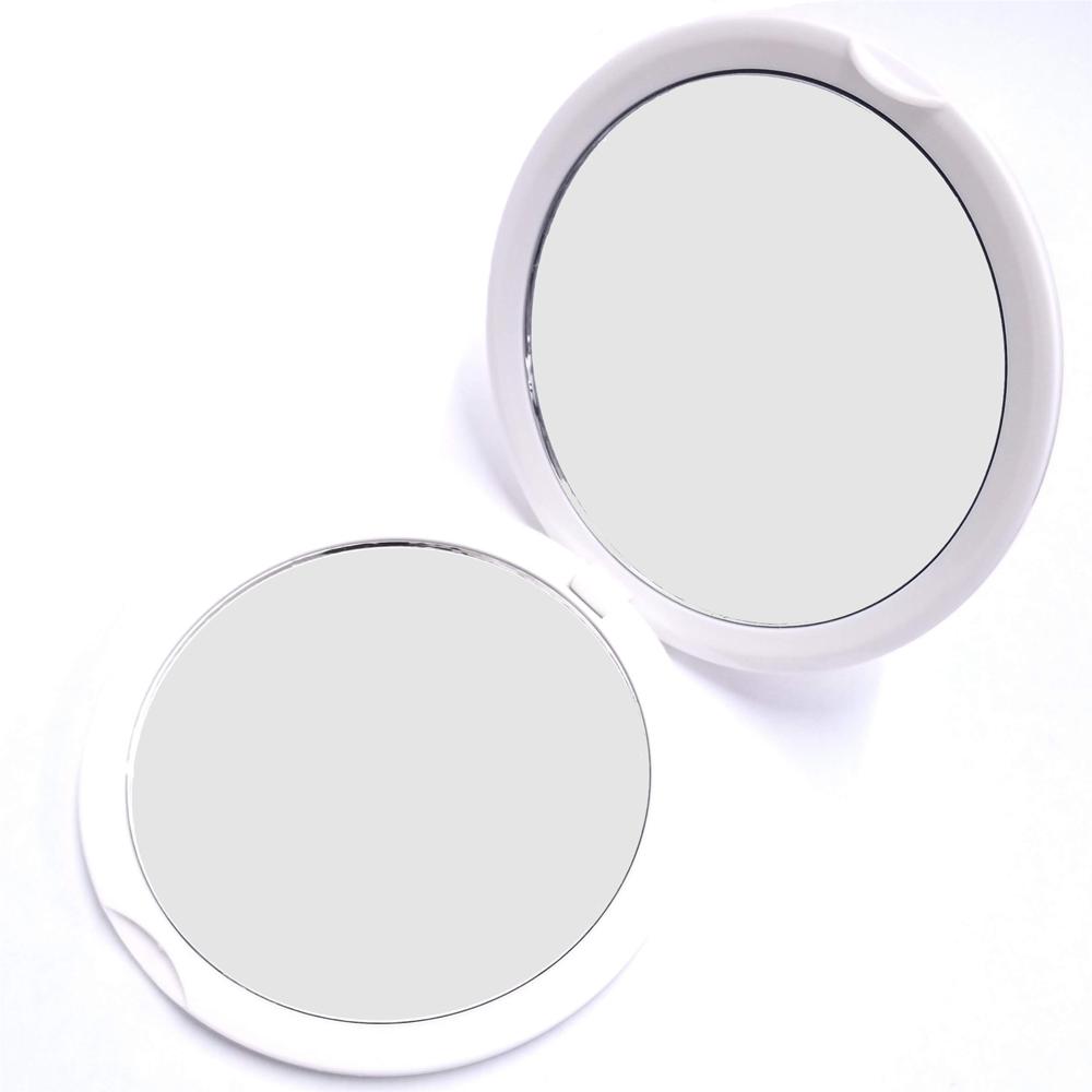 10倍率コンパクトミラー 10倍鏡 通常の鏡の10倍の大きさで映る手鏡 マーケティング 細かなメイクや日々のスキンケアに最適 持ち運びに便利なコンパクトミラーメイク 化粧 コンタクトレンズ 拡大鏡 スキンケア シワ シミ 10倍拡大鏡 海外限定 ネコポス送料無料