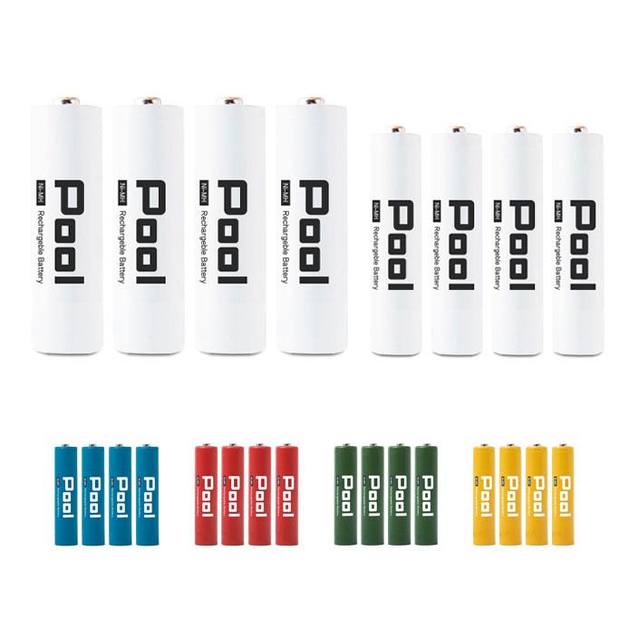 乾電池 から充電池へ 電池 単三 単四 ニッケル水素充電池 バッテリー 充電池 単3 単4 エネロング を超える大容量ネコポス送料無料 ニッケル水素電池エネループ と Pool 合計8本セット単3形 単4形×4本 プール 期間限定の激安セール ×4本 希望者のみラッピング無料