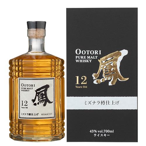 鳳 OOTORI 12年 ミズナラ樽仕上げ 700ml 43度 ジャパニーズ ピュアモルト ウイスキー 国産 日本 JAPANESE Pure Malt WHISKY Aged 12 Years MIZUNARA おおとり オオトリ