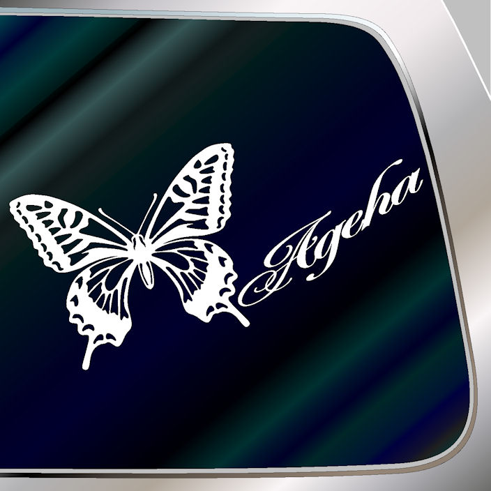 Papilio decal stickers size 10 cm x 21 cm cute ageha decal sticker car sticker