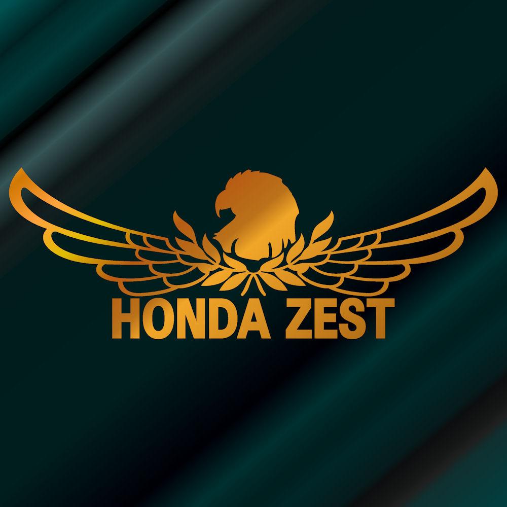 【送料無料】エンブレム ホンダ ゼスト ステッカー 車 サイズ:18cm×50cm(金色)リアガラス ステッカー かっこいい車 ステッカー ホンダゼスト