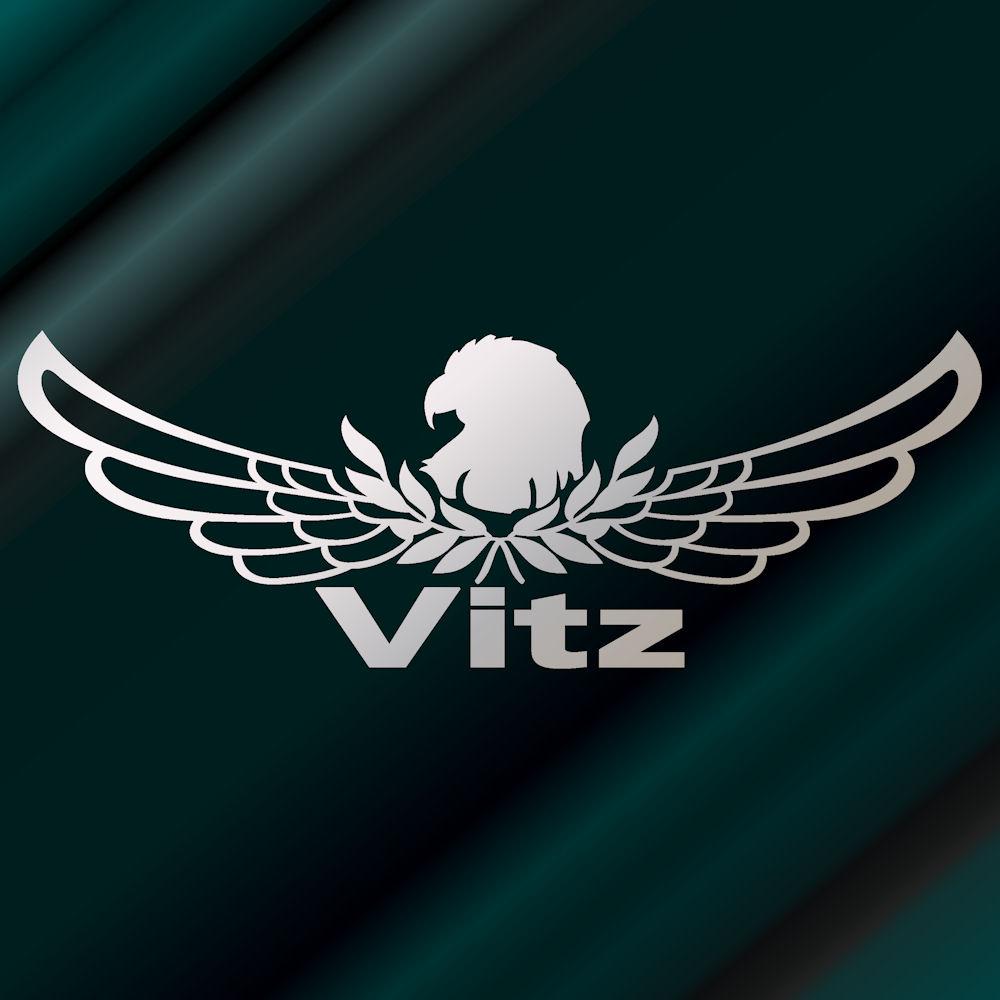 【送料無料】エンブレム ヴィッツ ステッカー 車 サイズ:18cm×50cm(銀色)リアガラス ステッカー かっこいい車 ステッカー トヨタ ヴィッツ