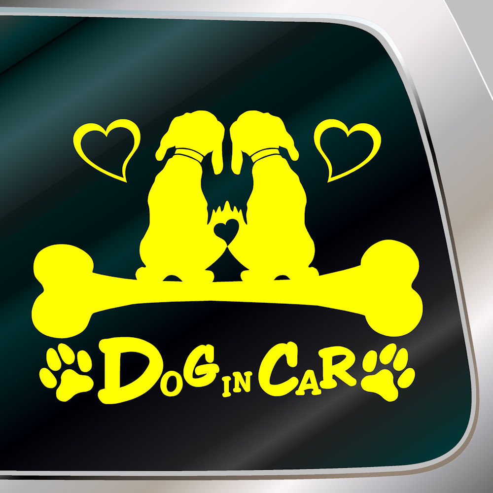 ginkage | Rakuten Global Market: Cute dog sticker DOG IN CAR ...