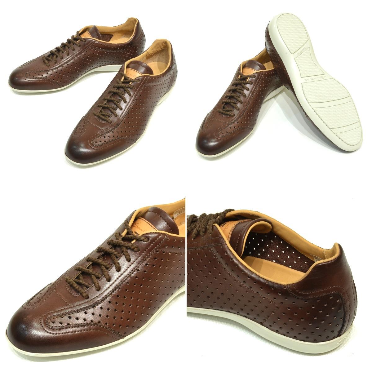 SANTONI 冲孔皮革制品运动鞋1382615251001019